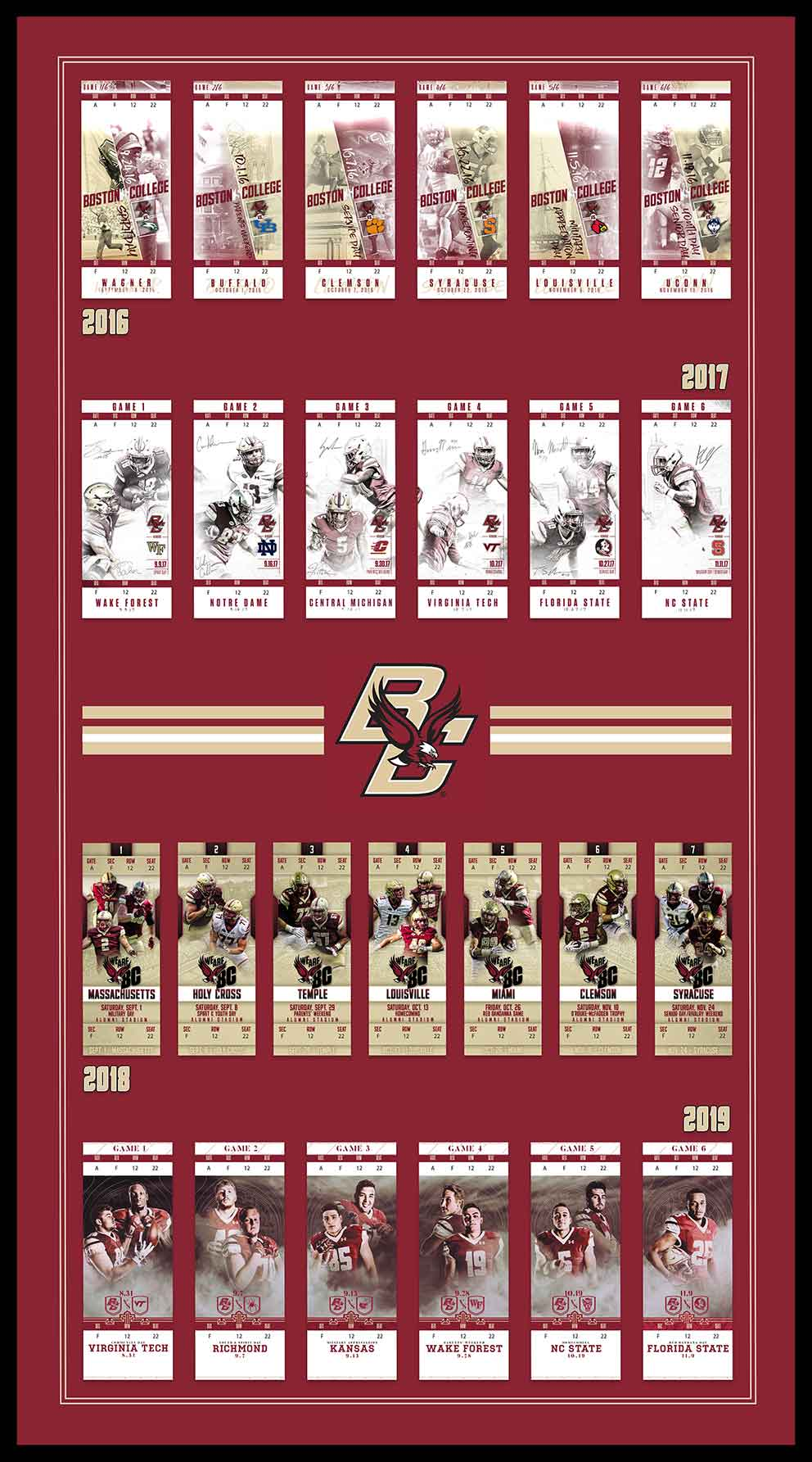 4 Years of BC Football - 2016 - 2019