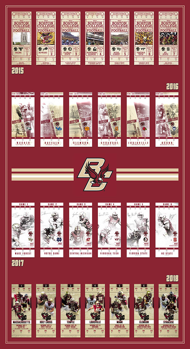 4 Years of BC Football - 2015 - 2018