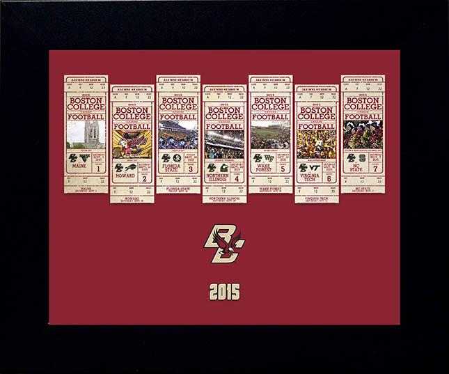 Boston College Season Ticket Display - 2015