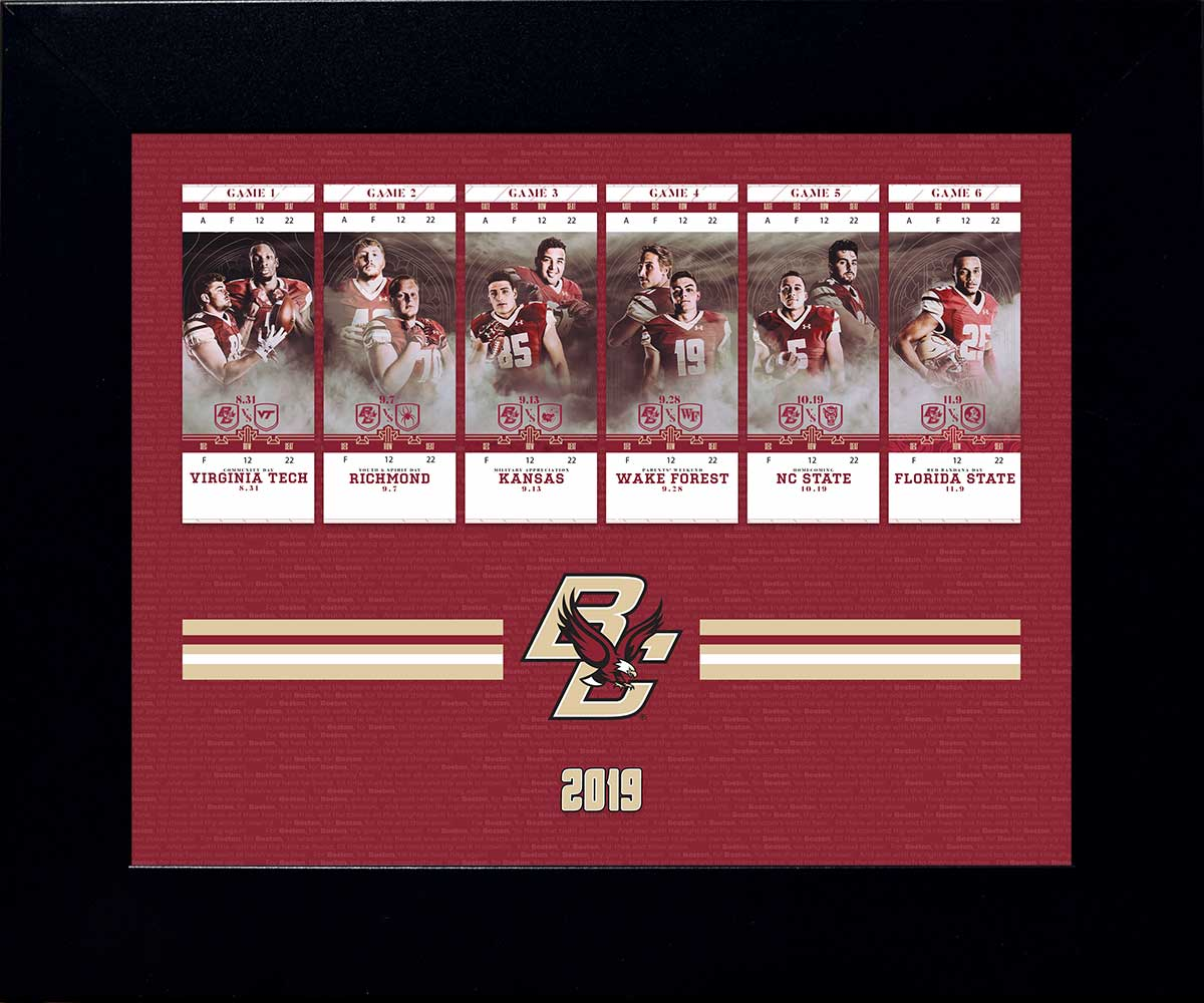 BC Football Season Ticket Display - 2019