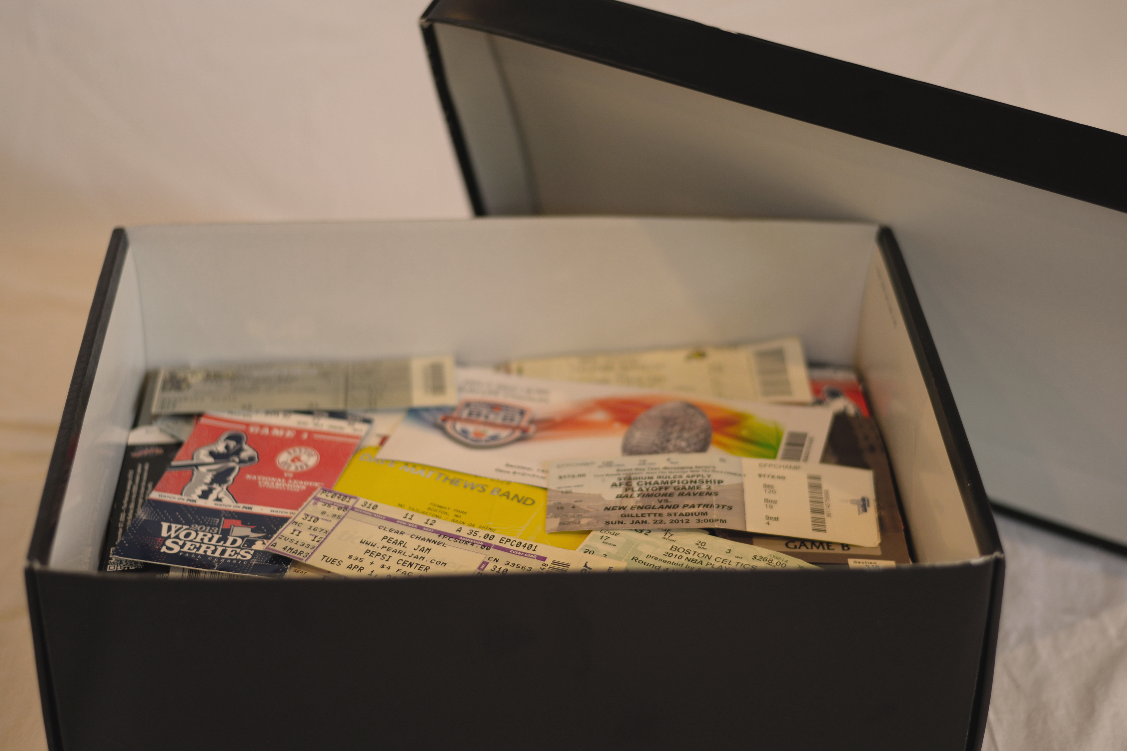 Box of Ticket Stubs - CollectEffect