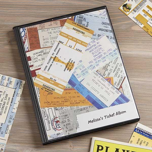 Personalized Ticket Stub Album