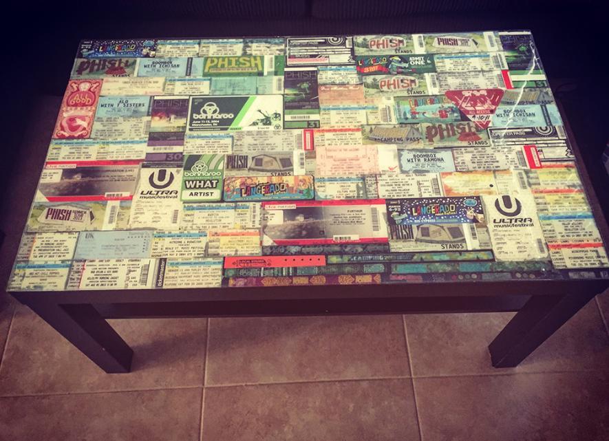 Ticket Stub Table